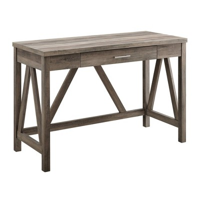 "46"" Rustic Farmhouse Single Drawer A Frame Desk - Saracina Home"