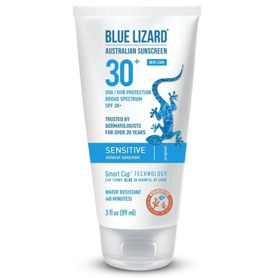 Sunscreen & Tanning: Blue Lizard Sensitive