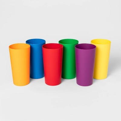 6pc 26oz Plastic Cup Rainbow - Pride