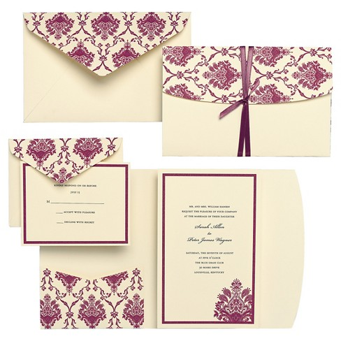 Brides Purple Elegant Invitation Pack - 30 Ct - image 1 of 1