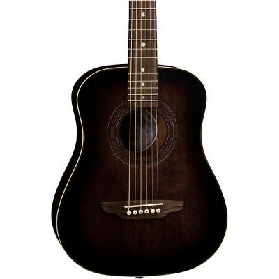 Luna Guitars Safari Artist Vintage Travel Acoustic Guitar Distressed Vintage Brownburst