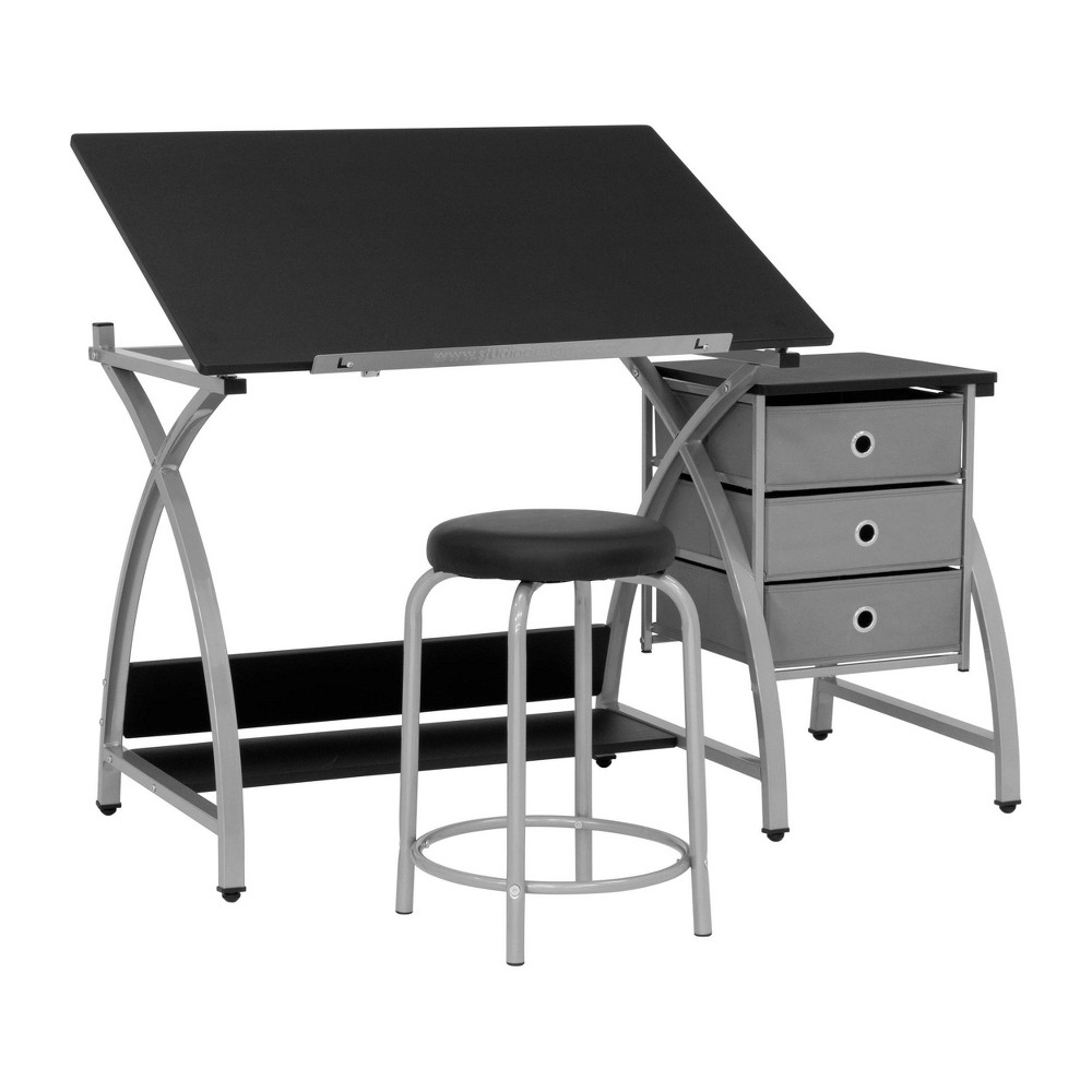 Image of 2pc Canvas & Color Adjustable Top Center Silver/Black - Studio Designs