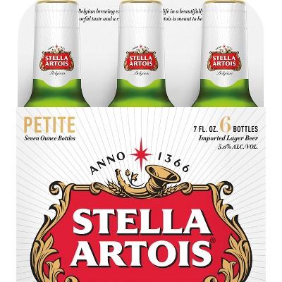 Stella Artois Lager Beer - 6pk/7 fl oz Petite Bottles