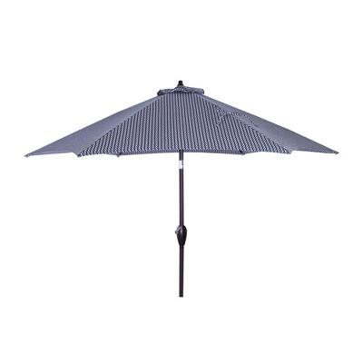 9' Round Patio Umbrella DuraSeason Fabric™ Camby Navy - Black Pole - Threshold™