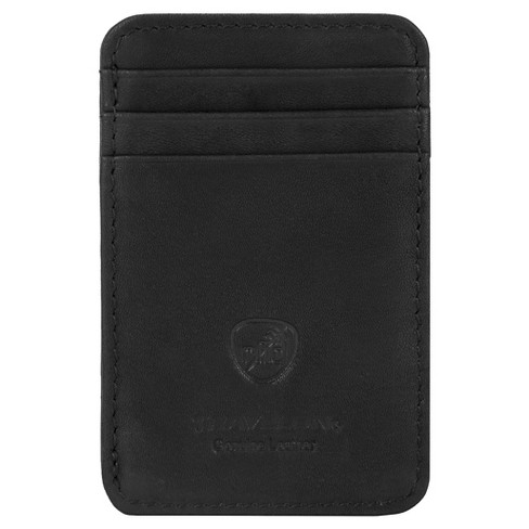Travelon RFID Leather Cash & Card Wallet - Black - image 1 of 3