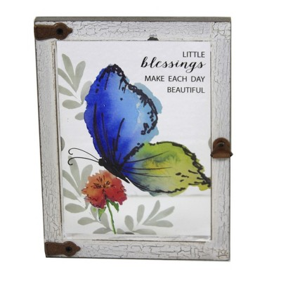 """Home Decor 6.0"""" Butterfly Plaque Wall Framed  -  Wall Sign Panels"""