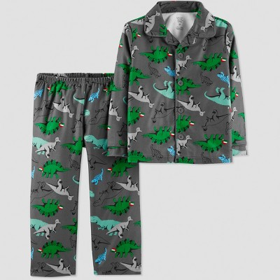 Baby Boys' Dino Coat Pajama Set - Just One You® made by carter's Gray 12M