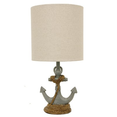 "16"" Saylor Anchor Accent Desk Lamp Blue - Decor Therapy"