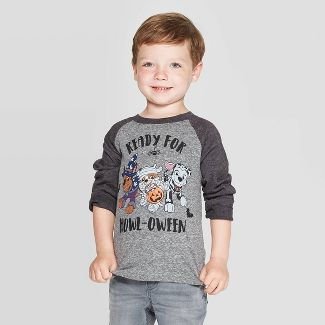 Toddler Boys' PAW Patrol 'Ready For Howloween' Long Sleeve T-Shirt - Gray 2T