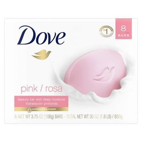 Dove Pink Deep Moisture Beauty Bar Soap - 3.75oz/8ct - image 1 of 4