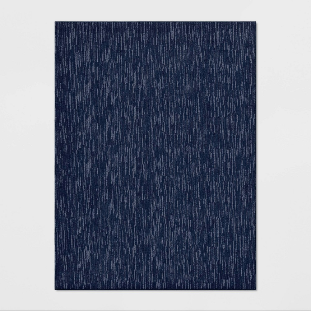 Image of 9'X12' Stripe Tufted Area Rug Navy - Made By Design