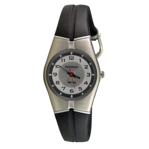 Armitron Resin Strap Analog Watch-Black, Women's