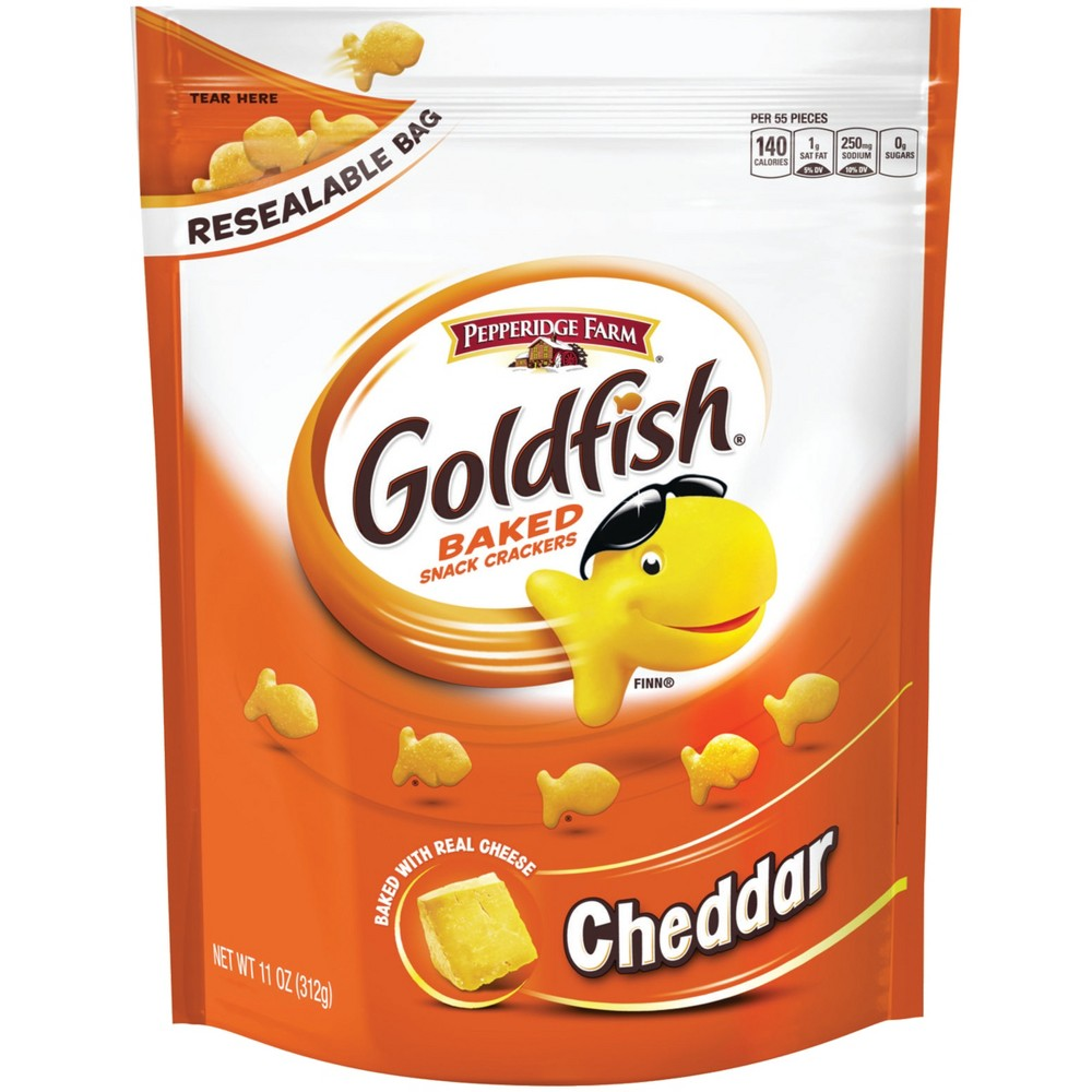 Pepperidge Farm Goldfish Cheddar Crackers, 11oz Re-sealable Bag