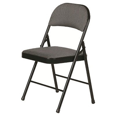 Folding Chair Rich Charcoal Gray - Plastic Dev Group