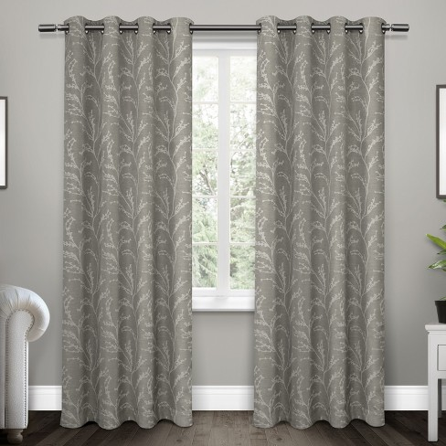 Kilberry Woven Blackout Grommet Top Window Curtain Panel Pair Exclusive Home