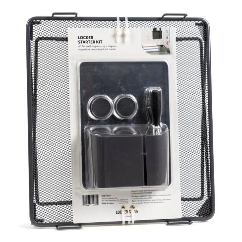 "10"" Mesh Metal Locker Shelf Kit Gray - Locker Style by UBrands - image 1 of 3"