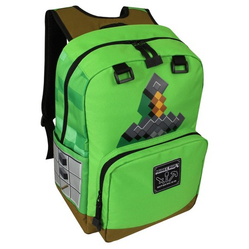 "Minecraft® 17"" Kids' Backpack - Green Sword - image 1 of 1"