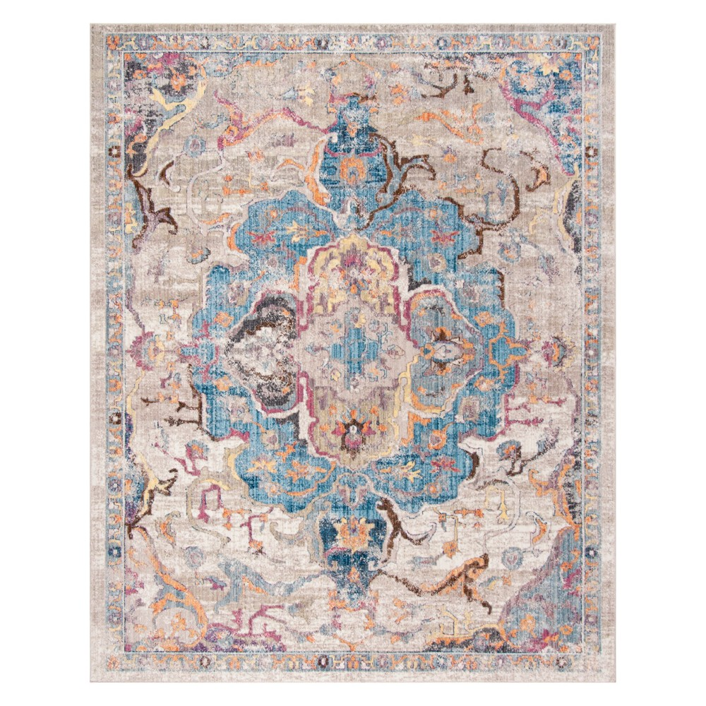 9'X12' Medallion Area Rug Blue/Light Gray - Safavieh