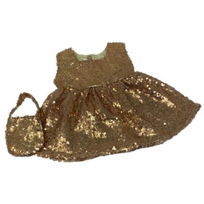 Doll Clothes Superstore Gold Sequin Dress Fits Cabbage Patch And 15 Inch Baby Dolls