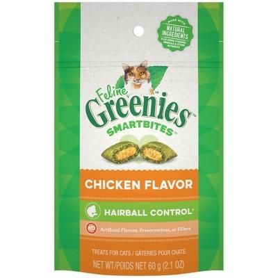 Greenies Smartbites Hairball Control Chicken Flavor Cat Treats