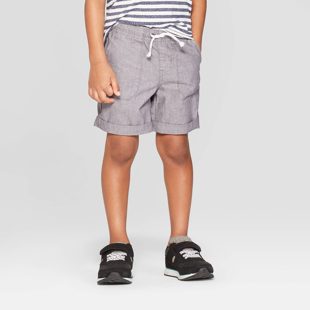 Toddler Boys' Texture Pull-On Shorts - Cat & Jack Gray 4T