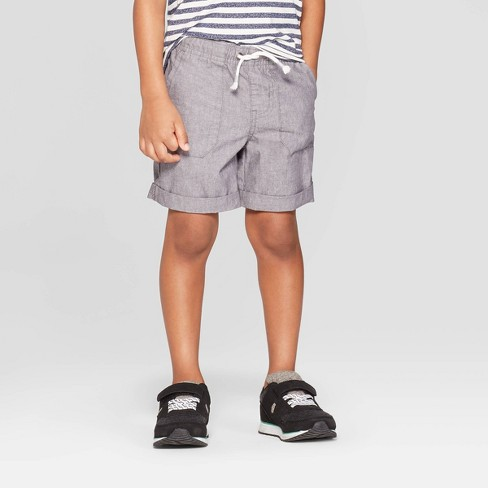 Toddler Boys' Texture Pull-On Shorts - Cat & Jack™ Gray - image 1 of 3