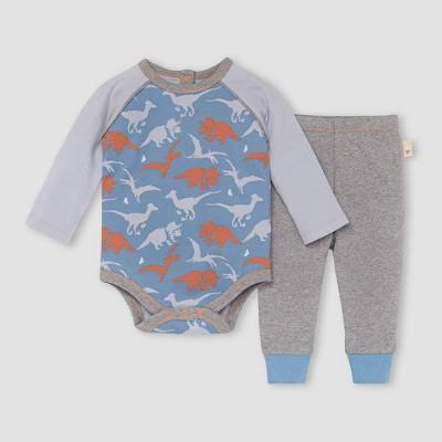 Burt's Bees Baby® Baby Boys' 'Ptero-bly-cute' Bodysuit & Pant Set - Sky Blue 3-6M