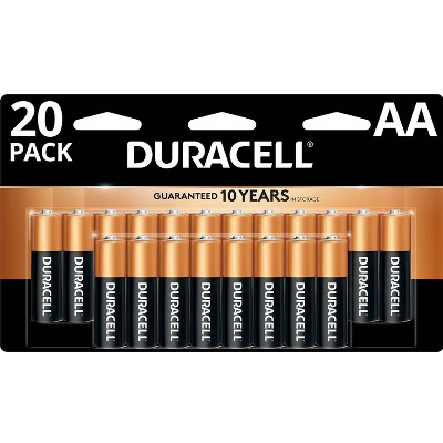 Duracell Coppertop AA Batteries - 20 Pack Alkaline Battery
