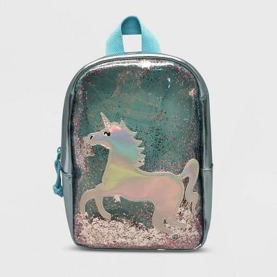 Toddler Girls' Unicorn Sequin Shaker Backpack - Cat & Jack™ Blue
