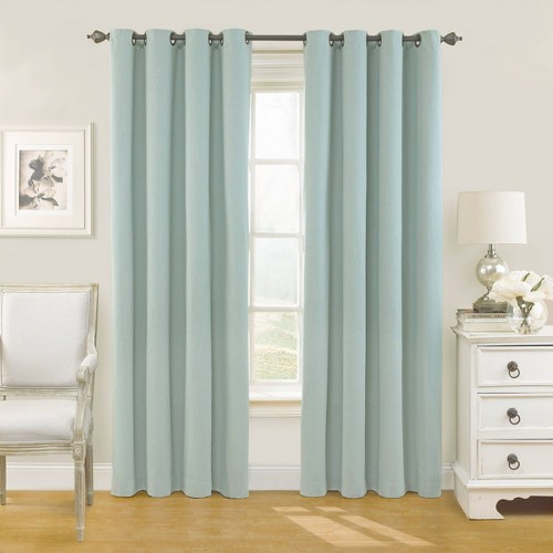95 X54 Nadya Solid Blackout Curtain Panel Teal Eclipse