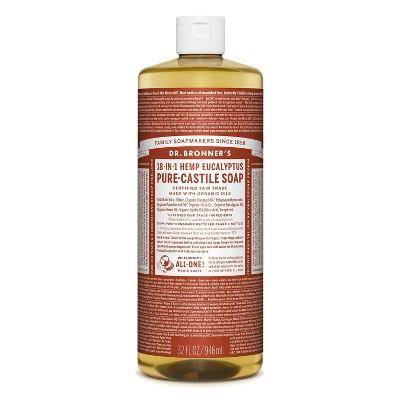 Dr. Bronner's 18-In-1 Hemp Pure-Castile Soap - Eucalyptus - 32 fl oz