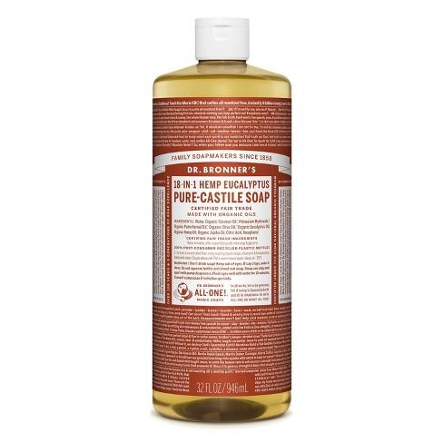 Dr. Bronner's 18-In-1 Hemp Pure-Castile Soap - Eucalyptus - 32 fl oz - image 1 of 3