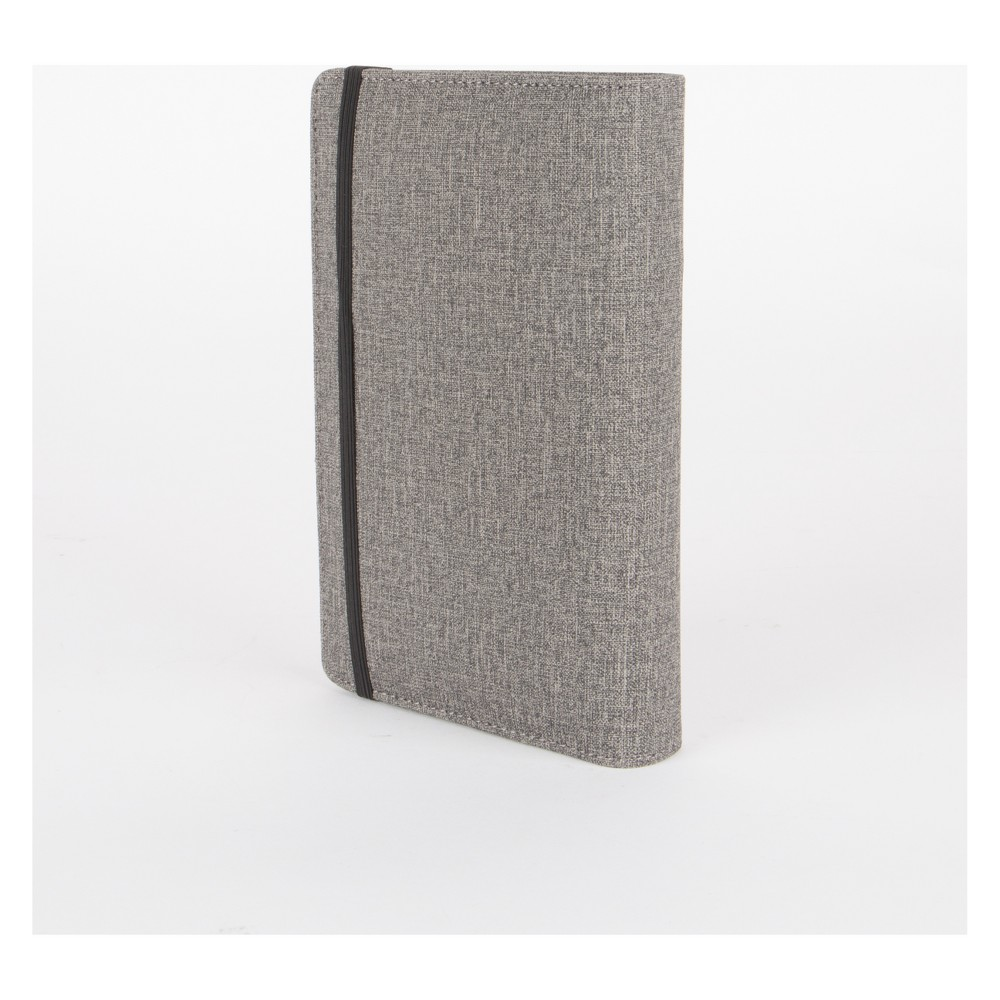Image of Power Charger and Organizer Elastic Band Closure Gray Planner