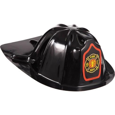 8ct Plastic Fire Hats Black - image 1 of 3
