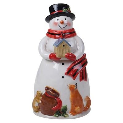 72oz Earthenware Magic of Christmas Snowman Cookie Jar - Certified International