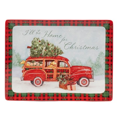 16  x 12  Home For Christmas Ceramic Serving Platter - Certified International