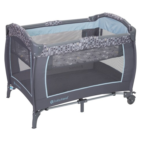 Baby Trend Trend E Nursery Center Playard Starlight Blue Target