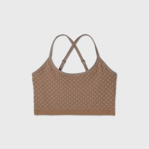 Women's Plus Size Seamless Bralette - Colsie™  - image 1 of 2