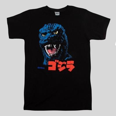 Men's Godzilla Kanji Short Sleeve Graphic T-Shirt - Black
