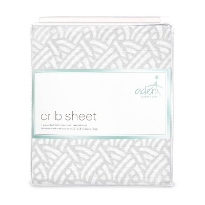 aden by aden + anais Crib Sheet - Pasture - Gray