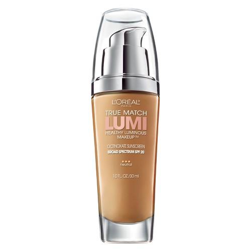 L'Oreal Paris True Match Lumi Makeup N7-8 Classic Tan/Cappuccino 1 fl oz, Classic Tan/Cappuccino N7-8