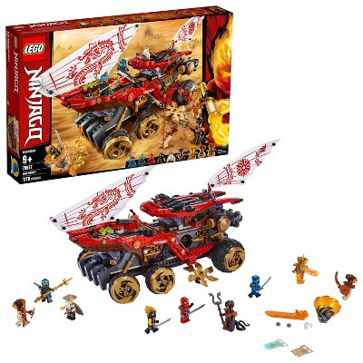 LEGO Ninjago Land Bounty Building Set with Ninja Minifigures, Action Toys for Creative Play 70677