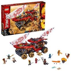 LEGO Ninjago Land Bounty 70677 Building Set with Ninja Minifigures, Action Toys for Creative Play
