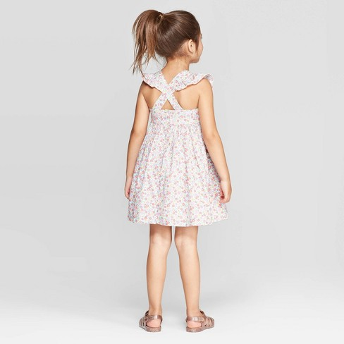 a9b7c016470e83 OshKosh B'gosh Toddler Girls' Flutter Sleeve Floral Dress - Pink ...