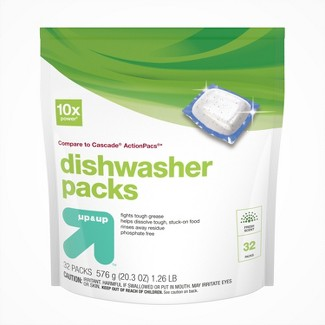 Up&Up™ Dishwasher Detergent Pacs - 32ct (Compare to Cascade® ActionPacs®)
