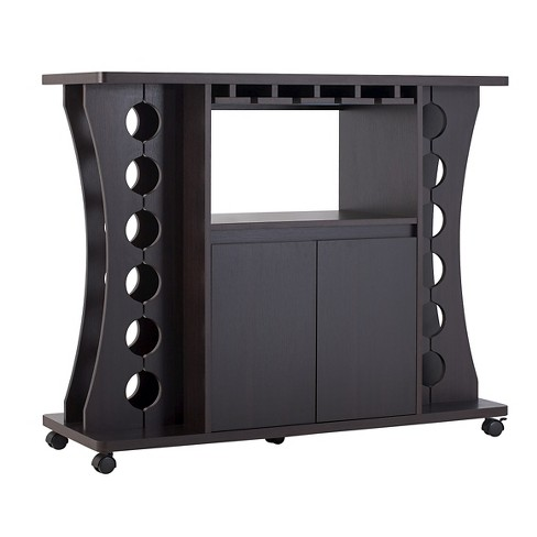 Claren Curved Standing Wine Rack Wood/Espresso - HOMES: Inside + Out - image 1 of 4