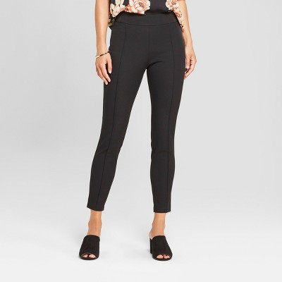 Women's Skinny Cropped Pintuck Pants - A New Day™