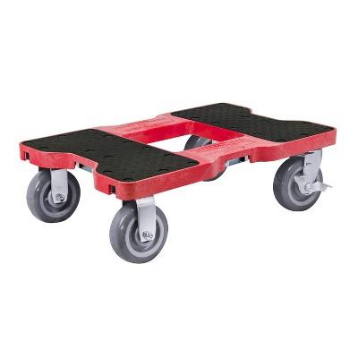 Snap Loc 1,800 lb Capacity Super-Duty E Track Dolly Red, Heavy Duty 6 in Polyurethane Swivel Non Marking Caster Wheels