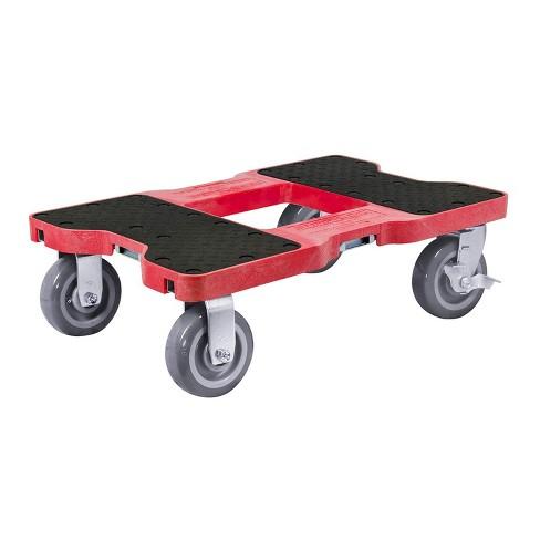 Snap Loc 1,800 lb Capacity Super-Duty E Track Dolly Red, Heavy Duty 6 in Polyurethane Swivel Non Marking Caster Wheels - image 1 of 4