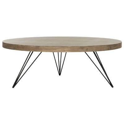 Mansel Coffee Table - Light Gray - Safavieh